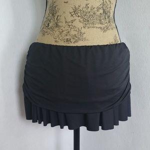 Lauren Ralph Lauren Black Swim Skirt Bottoms